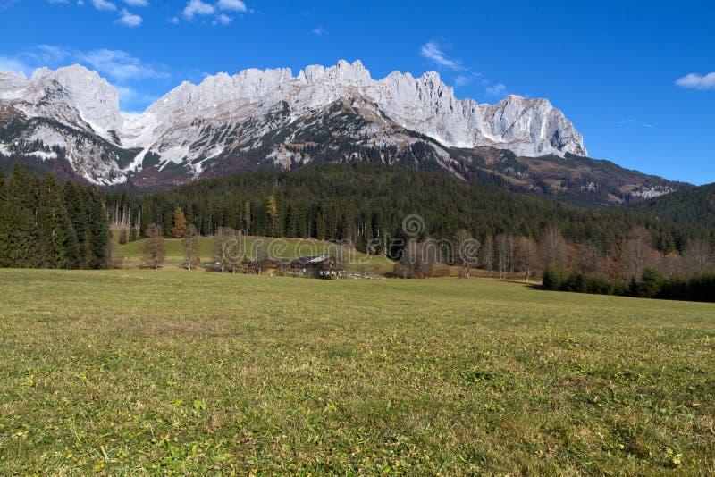 Montagnes de Zahmer Kaiser, Autriche photographie stock
