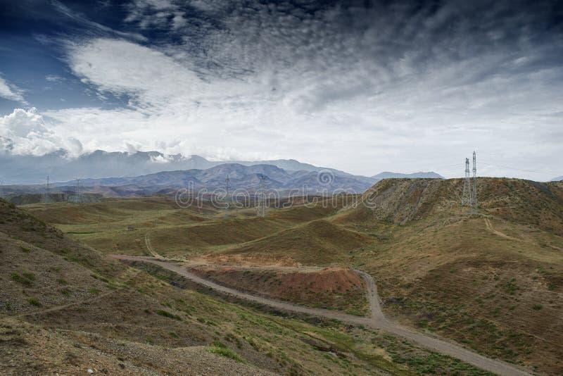Montagnes du Kirghizistan du sud image libre de droits