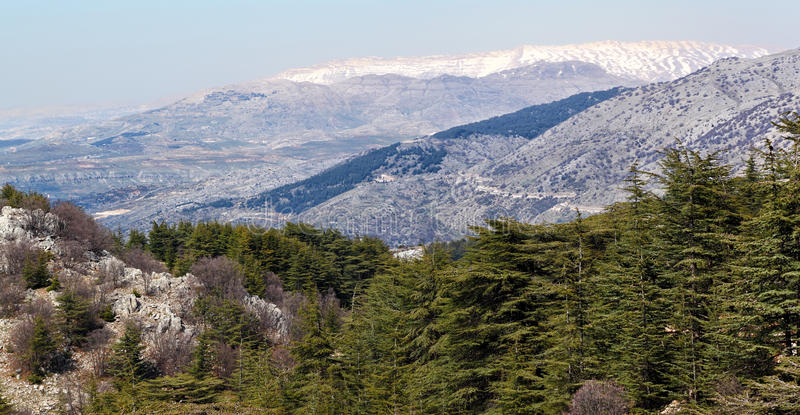 Montagnes du Liban photo stock