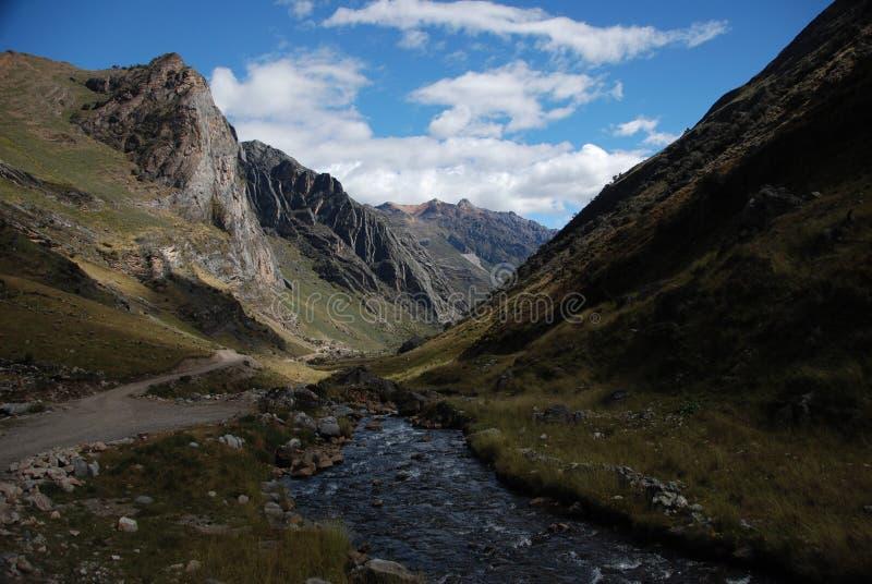 Montagnes du Pérou photos libres de droits