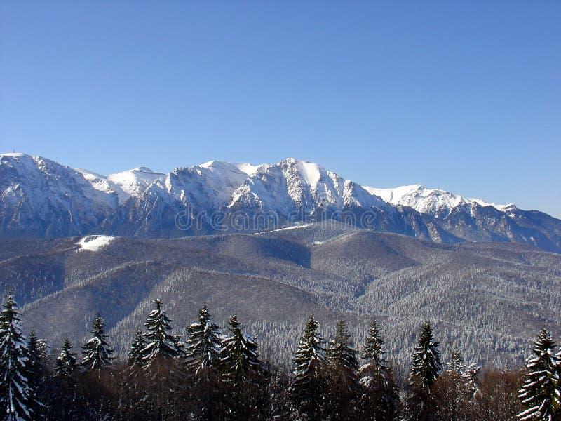 Montagnes en hiver photo libre de droits