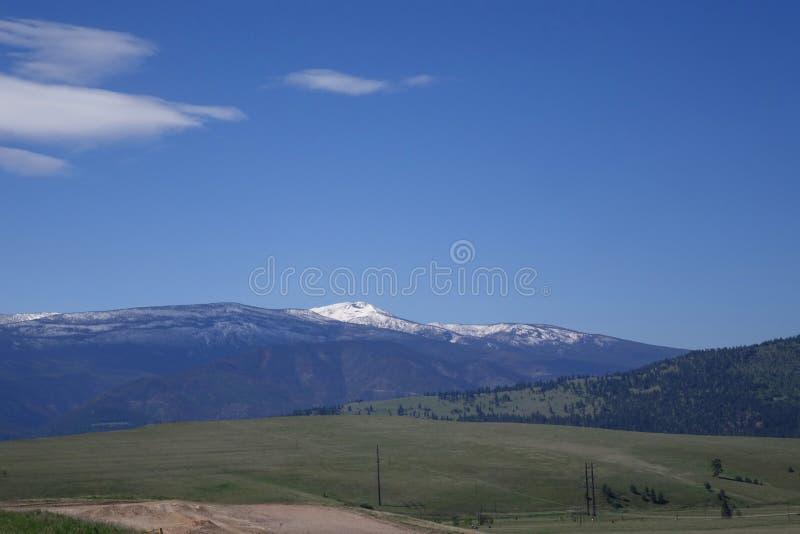 Montagnes et forêts - Missoula, Montana photo stock
