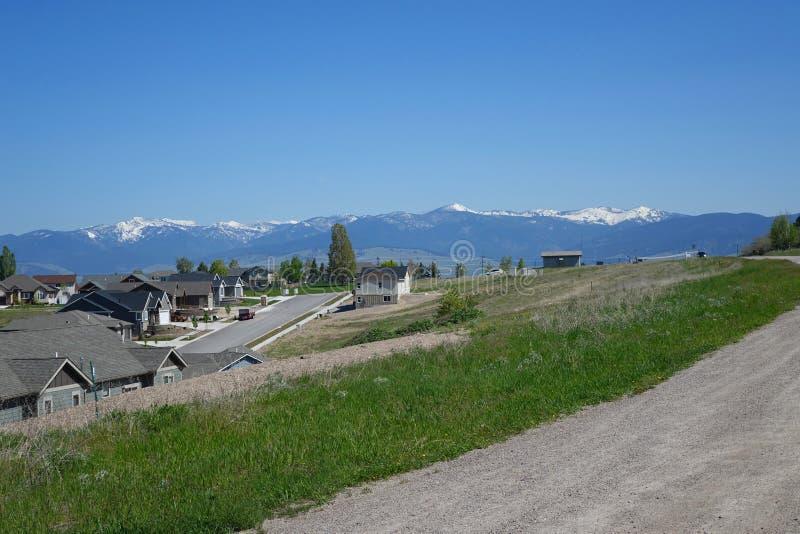 Montagnes et forêts - Missoula, Montana images libres de droits