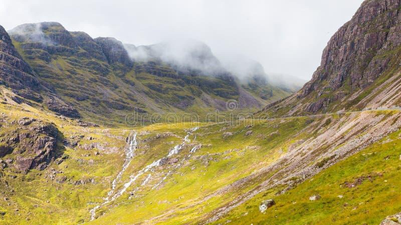 Montagnes et plaines images libres de droits