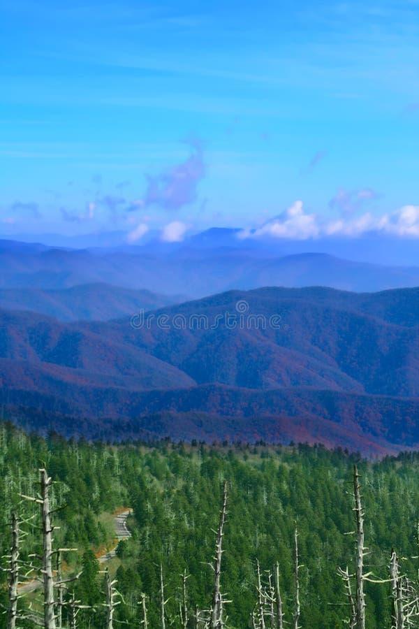 Montagnes fumeuses grandes, Etats-Unis photos libres de droits
