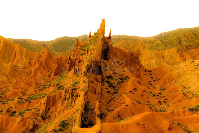 Montagnes kirghiz près du lac 3 Yssyk-Kul photographie stock libre de droits