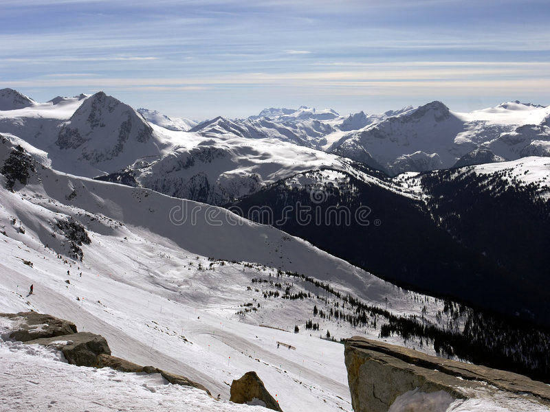 montagnes majestueuses images stock
