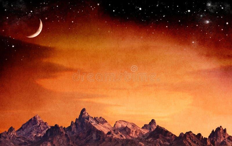 Montagnes mystiques images libres de droits