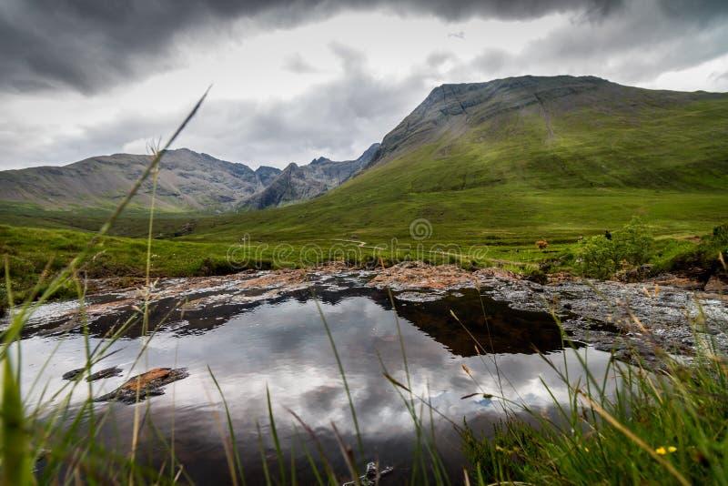 Montagnes noires de Cuillin photographie stock libre de droits