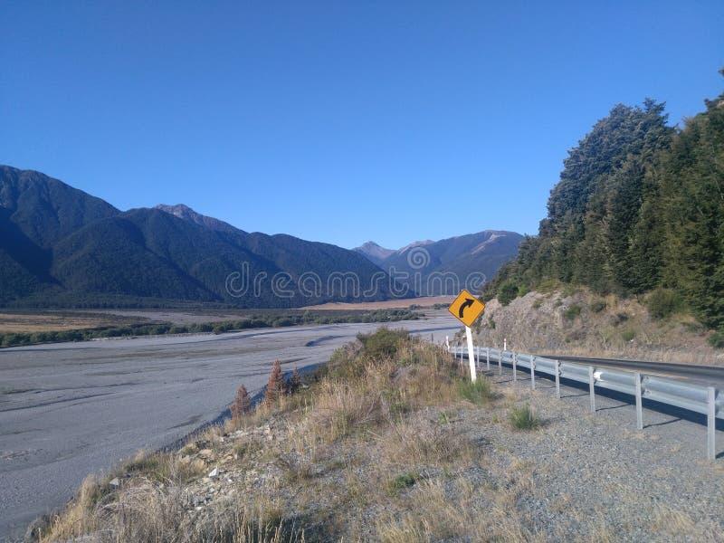 Montagnes Nouvelle-Zélande images libres de droits