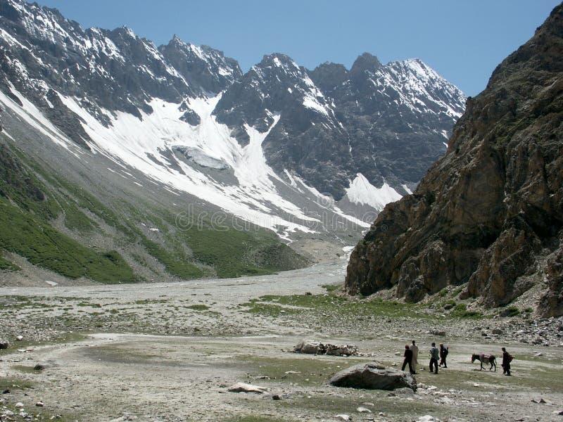 montagnes pakistanaises image stock