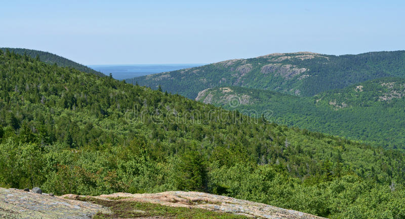 Montagnes Parc national d'Acadia photo stock