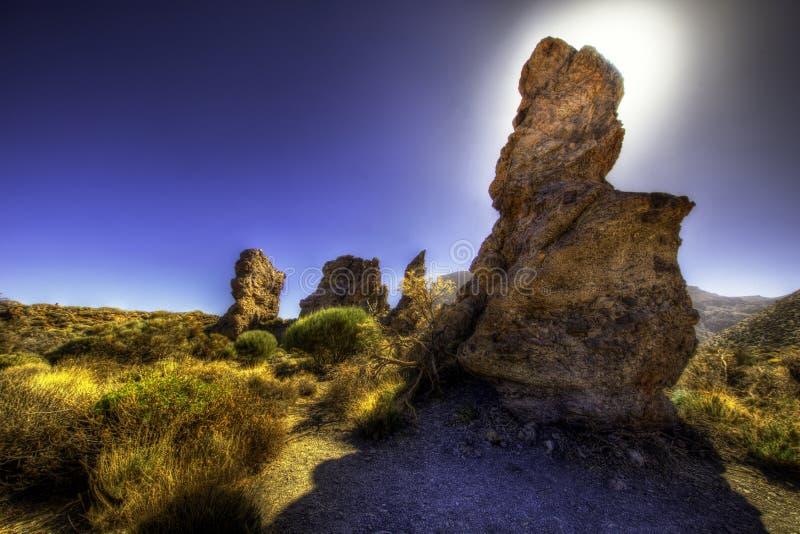 Montagnes rocheuses de Ténérife images stock
