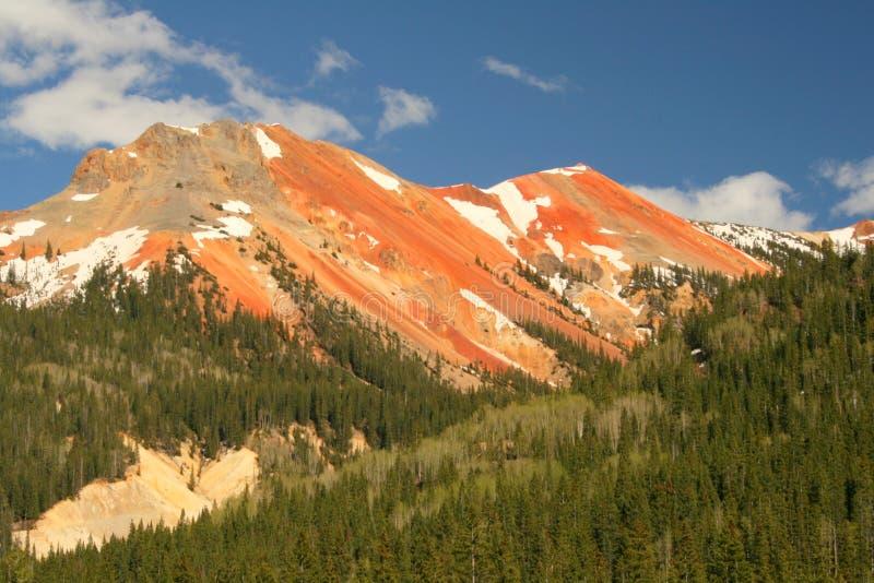 montagnes rouges photo stock