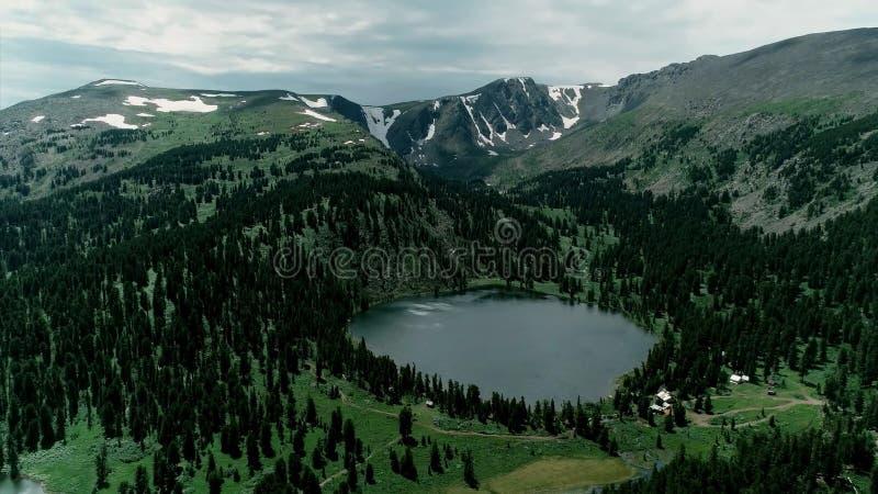 montagnes Russie de lac d'altai image libre de droits