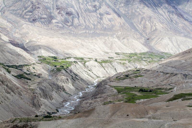 Montagnes scéniques de Ladakh photos libres de droits