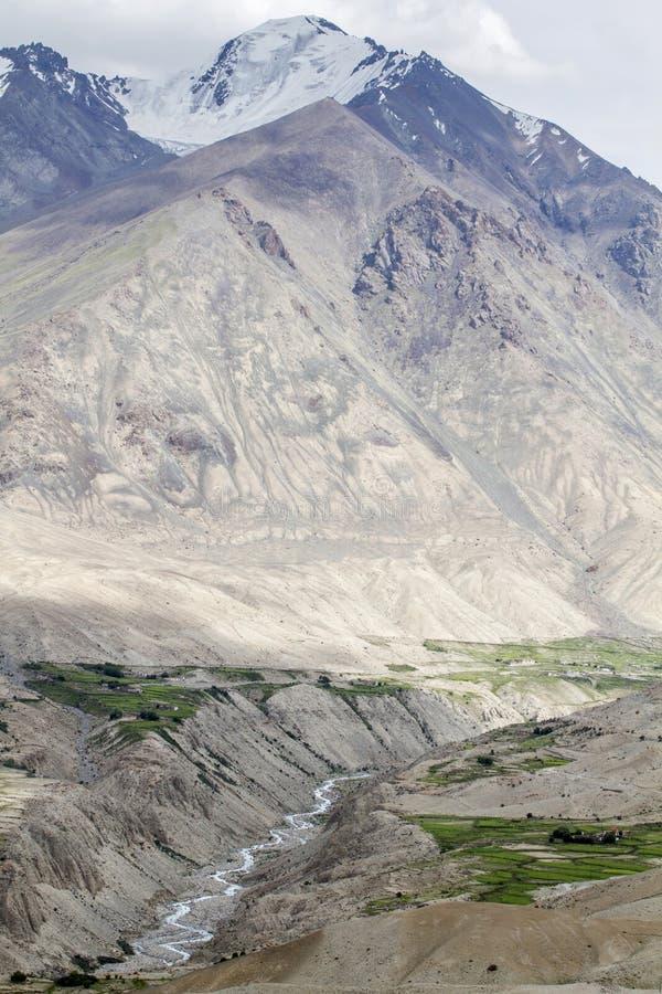 Montagnes scéniques de Ladakh, Inde image libre de droits