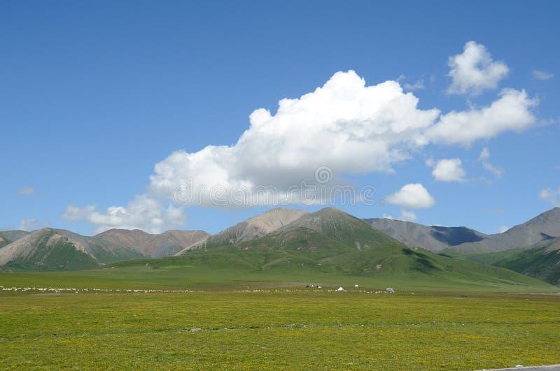 Montagnes sous le ciel bleu photographie stock