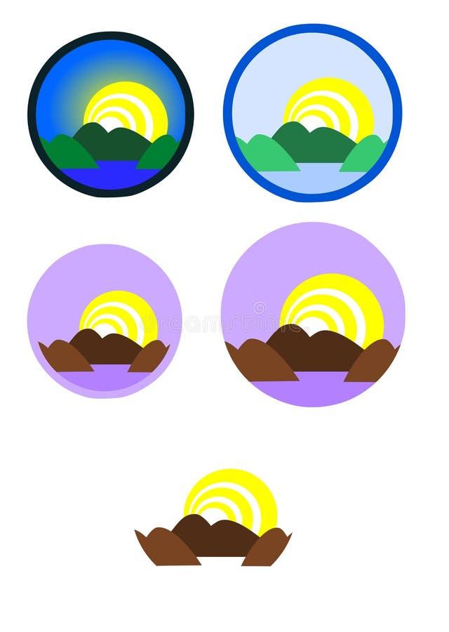 Montagnes sur le lac illustration de vecteur