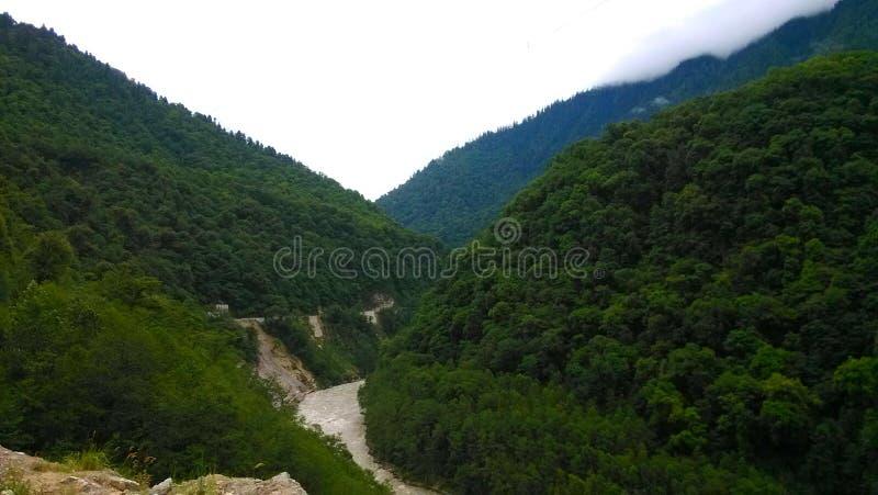 montagnes sur le plateau du Qinghai-Thibet photographie stock