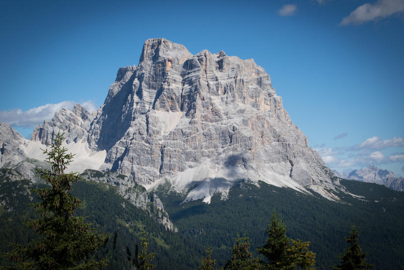 Montagnes Vénétie Italie de Dolomiti photographie stock libre de droits