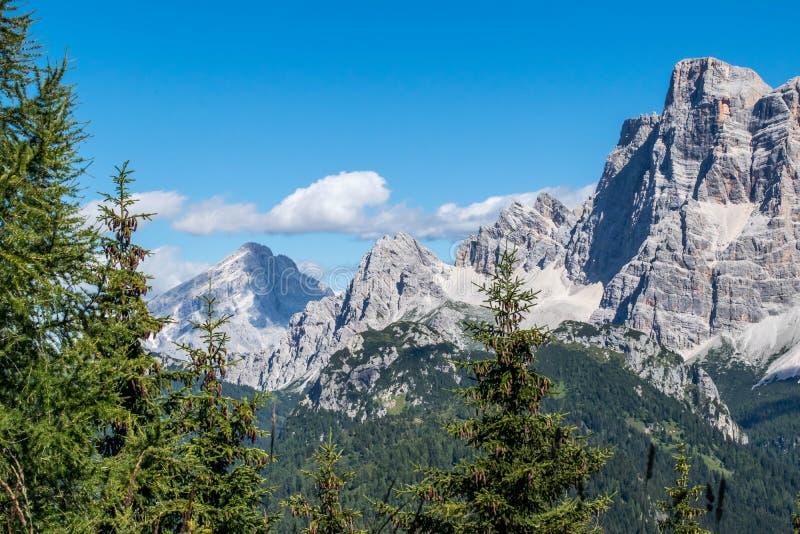 Montagnes Vénétie Italie de Dolomiti photo libre de droits