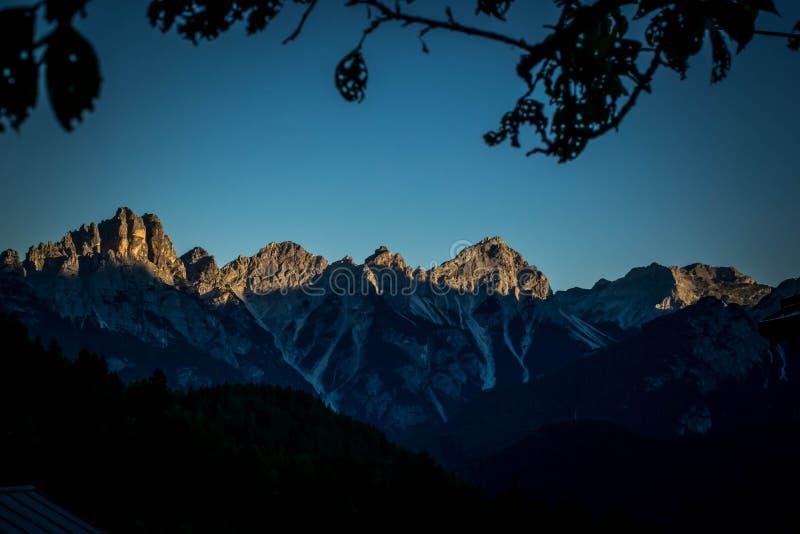 Montagnes Vénétie Italie de Dolomiti photos stock
