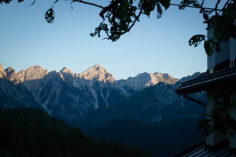 Montagnes Vénétie Italie de Dolomiti images stock