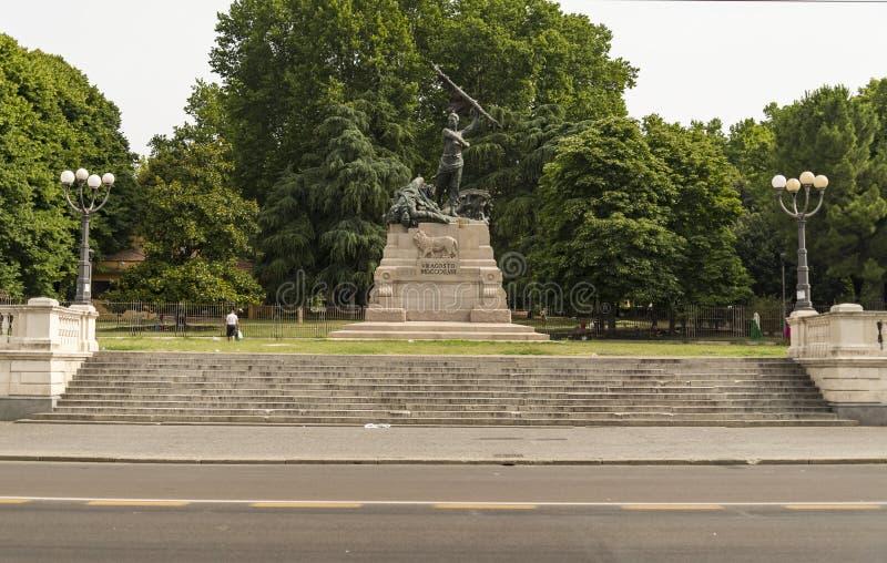 Montagnola公园在波隆纳,意大利城市 图库摄影
