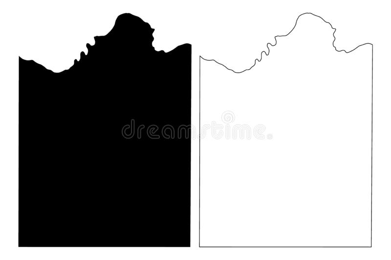 Montague County, Texas Counties in Texas, United States of America,USA, U.S., US map vector illustration, scribble sketch. Montague map stock illustration
