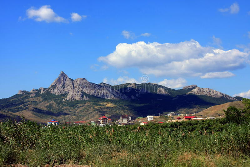 Montain with blue sky royalty free stock photos