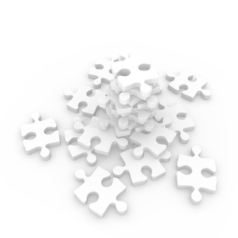 Montain de puzzle illustration libre de droits