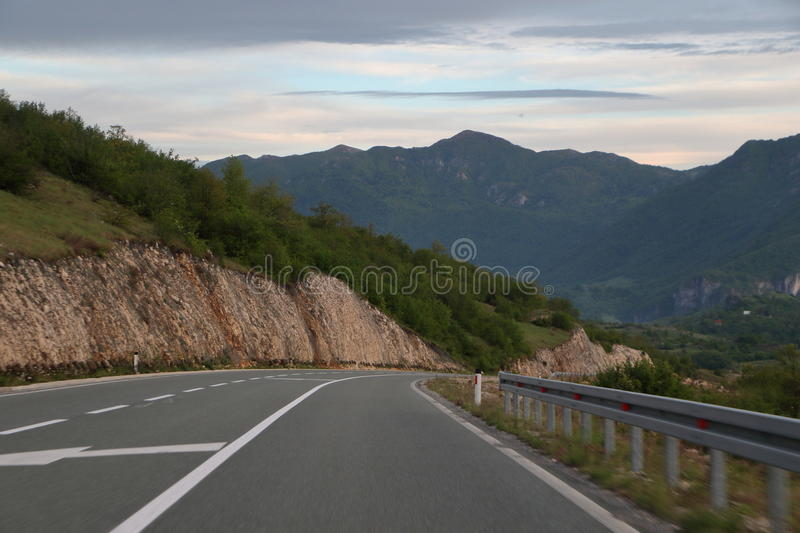 Download Montain hightway stock photo. Image of green, cloud, copy - 93476000