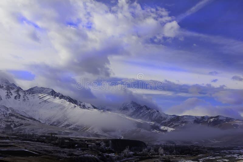 Mountains. view of a glacier royalty free stock photos