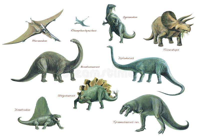 Montaje animal prehistórico ilustración del vector