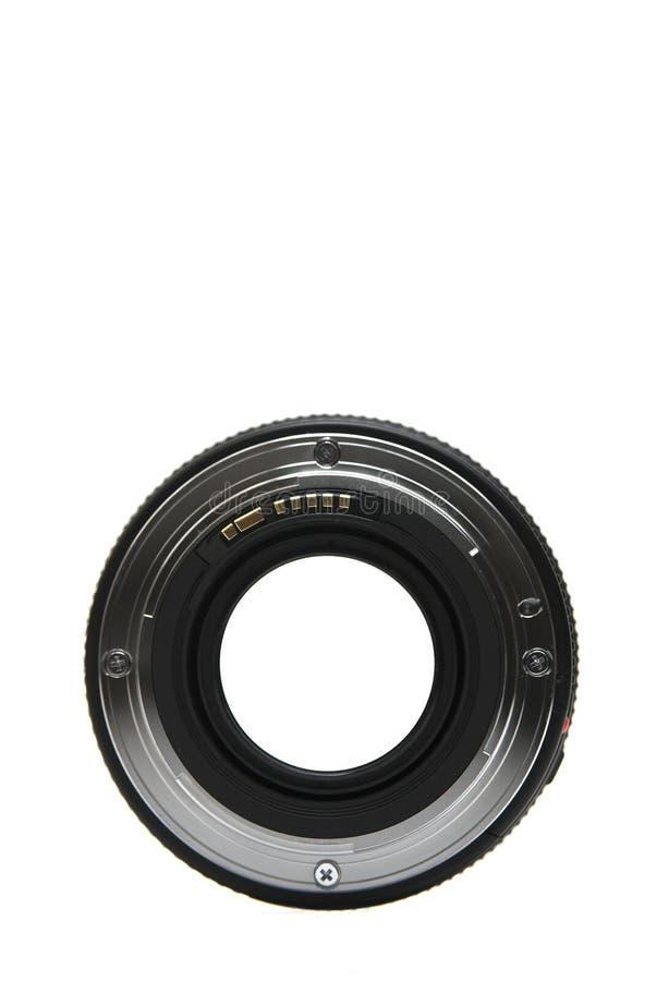 montaje de la lente de 50m m fotografía de archivo