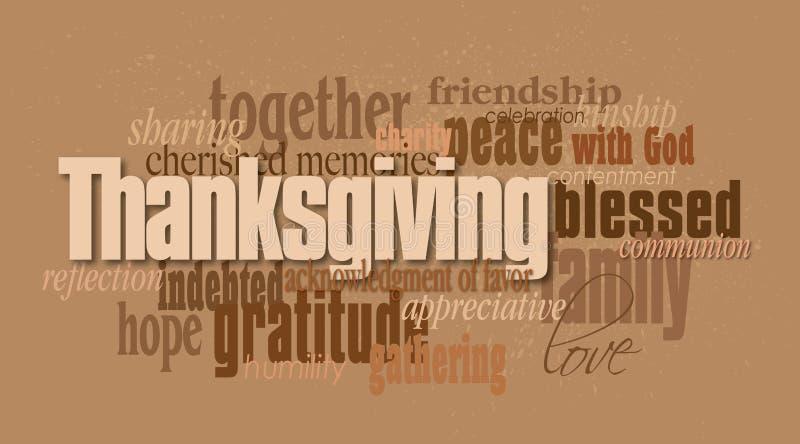 Montaje de la palabra del Día de Acción de Gracias libre illustration