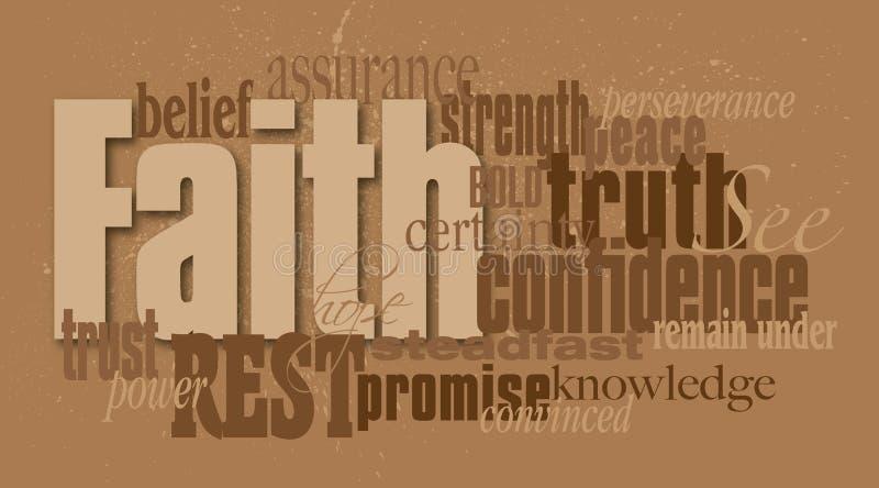 Montaje del gráfico de la palabra de la fe libre illustration