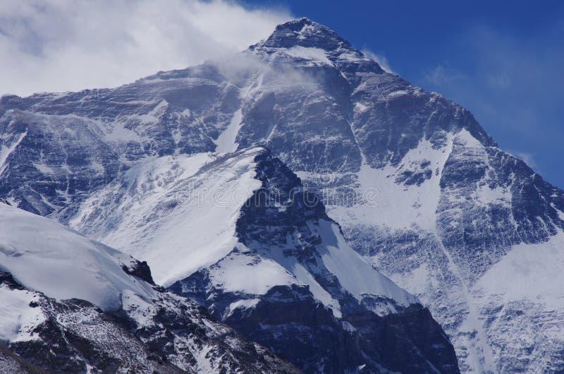 Montaje del norte Everest de la cara fotografía de archivo