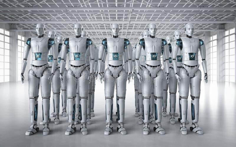 Montaje del robot en fila
