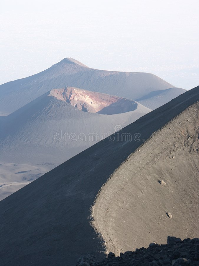 Montaje el Etna fotos de archivo