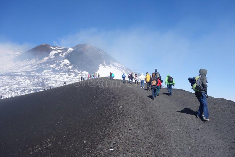 Montaje el Etna foto de archivo libre de regalías