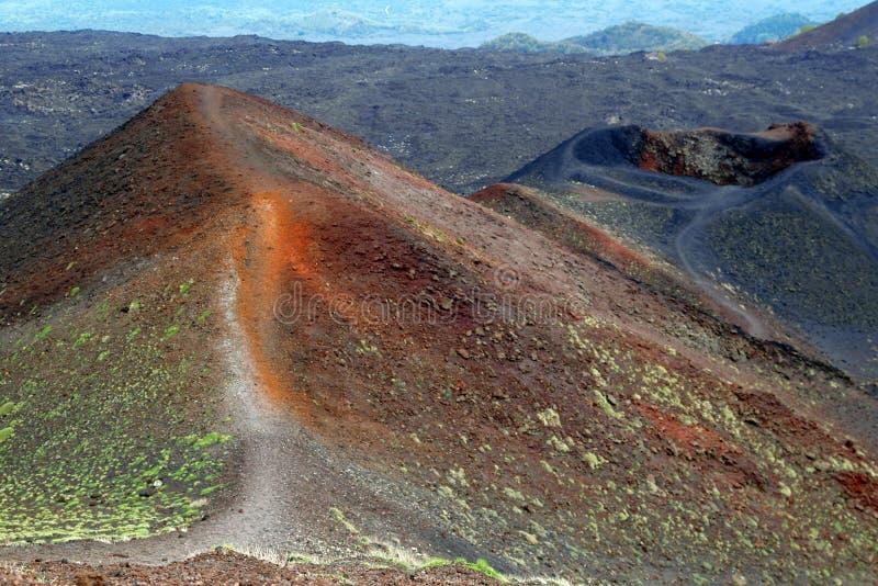Montaje el Etna de Vulcan en Sicilia fotografía de archivo