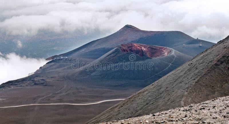 Montaje el Etna, Sicilia fotografía de archivo