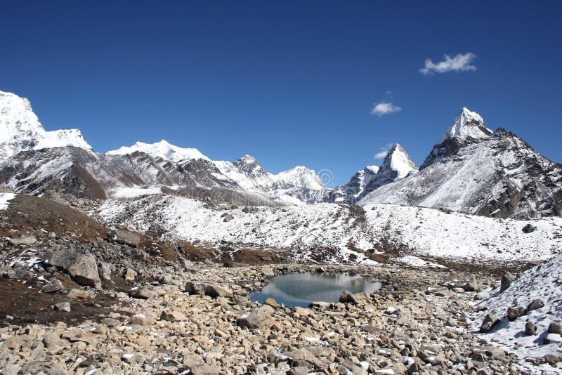 Montaje Everest - Nepal fotografía de archivo libre de regalías