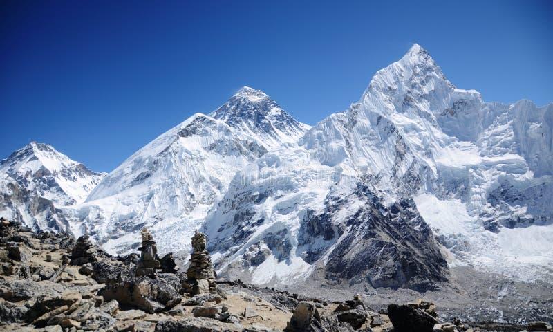 Montaje Everest visto de Kala Pattar fotografía de archivo libre de regalías