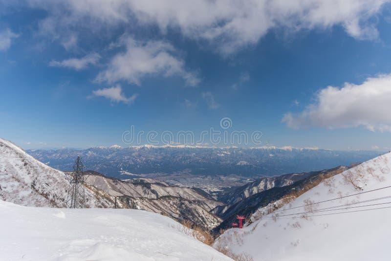 montaje Kiso-Komagatake, montañas centrales, Nakano, Japón imagen de archivo libre de regalías