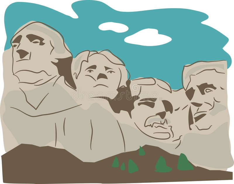 Montaje Rushmore stock de ilustración