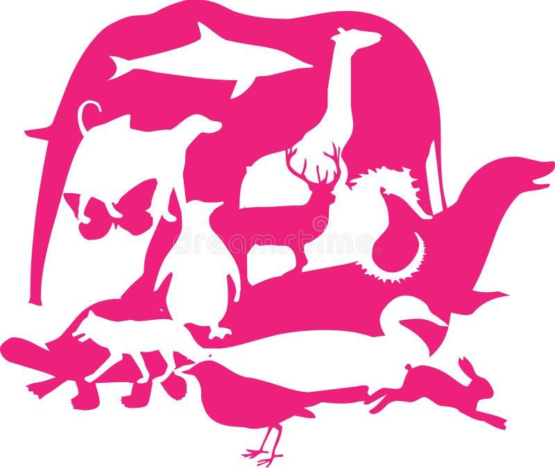 Montajes animales imagen de archivo libre de regalías
