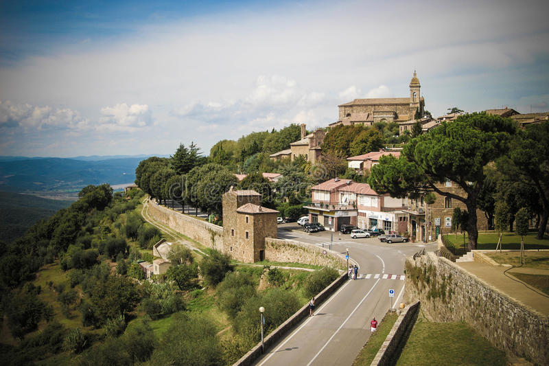 Montalcino royaltyfria bilder